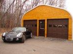 wybudowany garaż